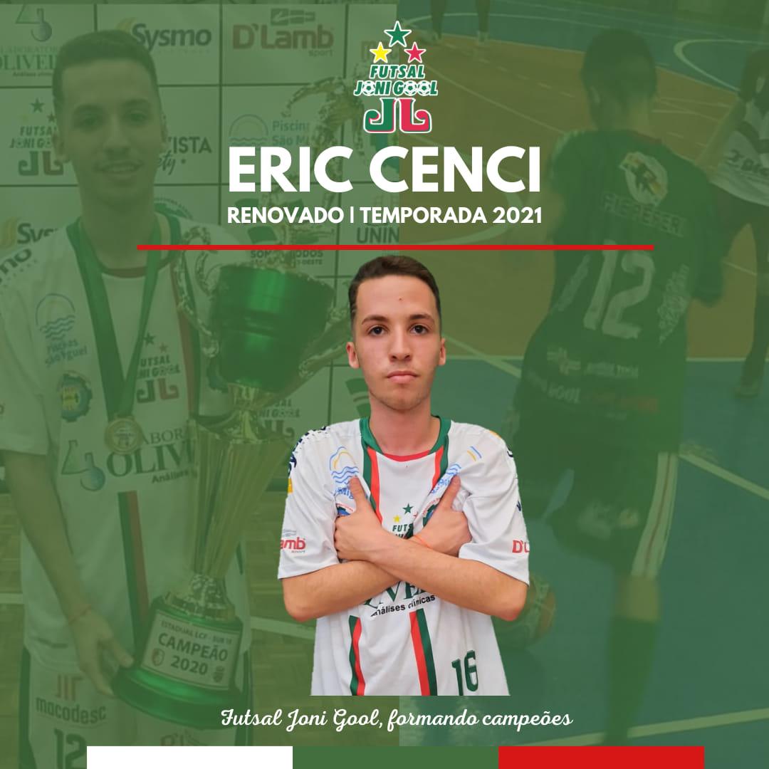 Eric Felipe Cenci permanecerá no Futsal JONI GOOL por mais uma temporada