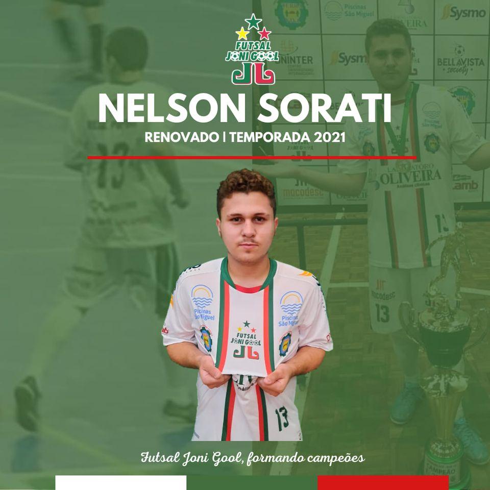Nelson renova por mais uma temporada com o Futsal JONI GOOL