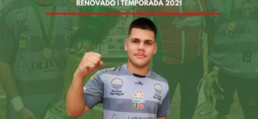 André Wathier seguirá defendendo as cores do Futsal JONI GOOL em 2021