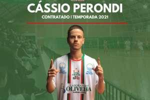 Cássio Perondi é o primeiro reforço oficializado para a temporada 2021
